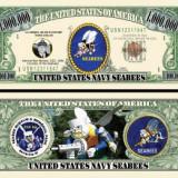 !!! SUA = FANTASY NOTE TJ6 - NAVY SEABEES - 2012 - UNC, America de Nord