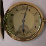 CEAS DE BUZUNAR DIN AUR-SWISS MADE MARCA TISSOT-FUNCTIONEAZA SI ARATA SUPER - Ceas de buzunar vechi
