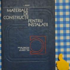Carti Constructii - Materiale de constructii pentru instalatii Igor Ivanov
