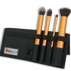 Pensule, Machiaj, Make-up, Set 4 pensule, realTechniques Core Collection - Pensula make-up