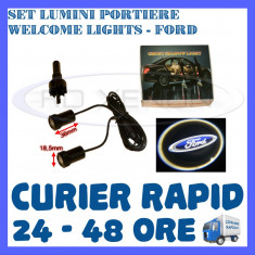 SET 2 x LUMINI LOGO LASER FORD GENERATIA 6 (12V, CAMION 24V) - LED CREE 7W - Logo Marca ZDM