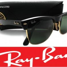 Ochelari de soare Ray Ban, Unisex, Verde, Wayfarer, Protectie UV 100% - Ochelari Ray Ban Clubmaster Wayfarer