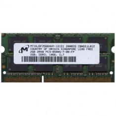 IT_002 KIT 2X Memorie SODIMM DDR3 1066 CL7 Micron 2GB PC3-8500S-7-00-FP - Memorie RAM laptop