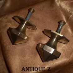 Set manere usa alama/bronz, perioada Eduardiana, vintage - Metal/Fonta