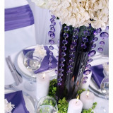 Ghirlanda cristale, mov, 1m - Decoratiuni nunta