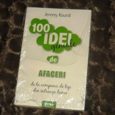 100 de idei geniale de Afaceri - 2+1 gratis - CA30 - Carte de vanzari