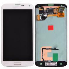 Display LCD - Ansamblu LCD Display Laptop Touchscreen touch screen Samsung Galaxy S5 I9600 White Alb ORIGINAL