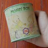 Colectii - Vintage - Cutie din tabla / Pusculita Betsey Clark Money Box / 1979 Made England