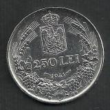 ROMANIA MIHAI I 250 LEI 1941, NSD ARGINT [1] LUCIU, XF++ a UNC - Moneda Romania