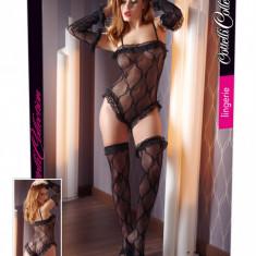 Body Set Negru dantela - Lenjerie sexy femei