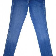 Blugi Conici H&M - (MARIME: 28) - Talie = 80 CM, Lungime = 102 CM - Blugi barbati H&m, Culoare: Albastru, Prespalat, Skinny, Normal