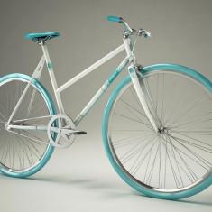 Pegas Clasic F - 3 viteze, Alb argintiu - Bicicleta retro