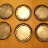 Metal/Fonta - Set 6 suporti (suport) pahare, din zinc masiv, de calitate marcat, Germania
