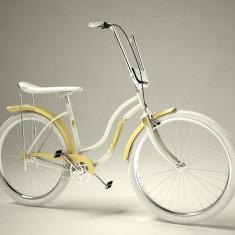 Bicicleta retro - Pegas Strada 2 - 3 viteze, Alb