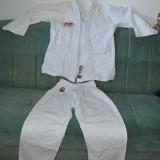 Kimono (gy, Ghi) de Karate / judo, KNOW Club Line, bumbac, marime 2/160