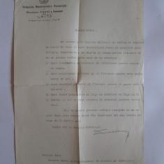 RARISIM! DOCUMENT P.M.B. CU TABELUL CASELELOR DE TOLERANTA DIN BUCURESTI 1933