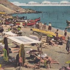CONSTANTA, PLAJA SPLENDIDA A BAILOR DUDUIA SI PESCARIILE - Carte Postala Dobrogea 1904-1918, Necirculata, Printata