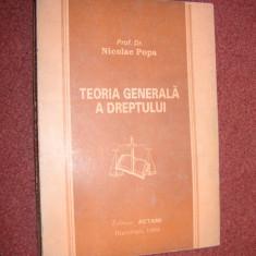 Nicolae Popa - Teoria generala a dreptului - 1994 - Carte Teoria dreptului