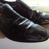 Pantofi barbati lac piele marime 45