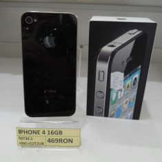 iPhone 4 Apple 16GB(LAG), Negru, Neblocat