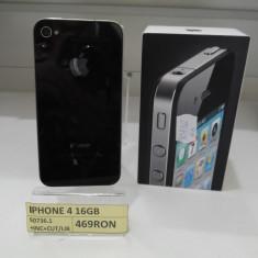 iPhone 4 Apple 16GB(LAG), Negru, Neblocat