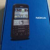 Telefon Nokia, Negru, <1GB, Neblocat, Single SIM, Single core - Nokia E5, La cutie, 3G, 5mpx cu led, Wi-Fi, GPS, Poze Reale!