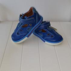 Sandale copii - Sandale piele baieti Blue 404 (Culoare: albastru, Marime incaltaminte: 23)