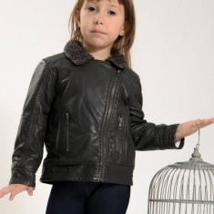 Geaca copii imitatie piele Losan 326 2013 (Culoare: gri, Imbracaminte pentru varsta: 7 ani - 122 cm)