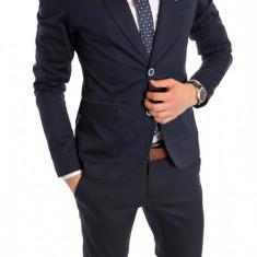 Sacou tip Zara Man bleumarin casual - sacou barbati - sacou bumbac cod 6155, Marime: S, L, Culoare: Din imagine