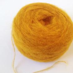 Ata - Fir de tricotat sau crosetat, de tip mohair f moale si f pufos, mustar fin