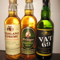 3 sticle whisky, cl 70 gr 40 ani 80