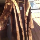 Palton dama - Haina blana Moutoun Dore marimea 50 maro