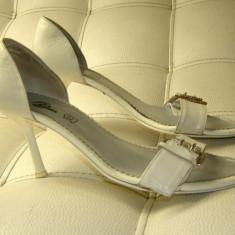 Sandale dama marca Bata piele marimea 38 (P40_1), Culoare: Alb