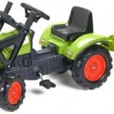 Tractor cu pedale, remorca si incarcator frontal Falk, verde