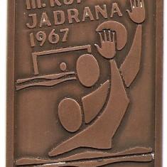 Medalie III Kup Jadrana 1967 - water polo - 44x60 mm - In caseta (MB-3), Europa