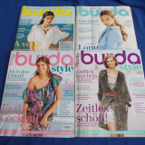 LOT 4 REVISTE BURDA / BURDA STYLE _CU TIPARE - NR.6, 7, 10/2009 + NR.4/2010 - Revista moda