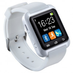 Ceas Alb Smart Watch U8 sincronizare Bluetooth telefoane Android Nou in Cutie