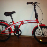 Bicicleta Pliabila de 20 inch Velors - Bicicleta pliabile, 19 inch, 20 inch, Numar viteze: 1
