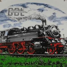 Macheta Feroviara Alta, O, Locomotive - Farfurie decorativa locomotiva cu abur GDL