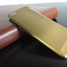 Husa Telefon Apple, Auriu, Metal / Aluminiu, Husa - Husa iPhone 6 lux - 100% aluminiu perforat, 0.3 mm grosime, nu piele, GOLD