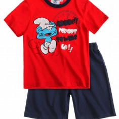 Pijama de vara Strumfi rosu/denim