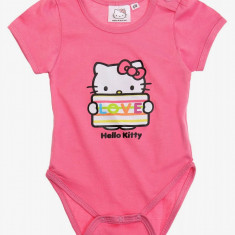 Body cu maneca scurta Hello Kitty roz