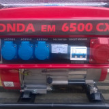 Generator curent Honda, 5,5 kw, 220v / 380v, benzina + GPL, NOU. Livrare gratuit