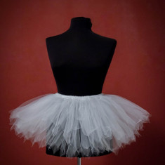 Fusta tutu alb balet fulg de nea/lebada 2-3 ani, Marime: Masura unica, Culoare: Din imagine