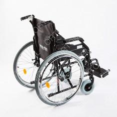 Carucior handicap pliabil cu detasare rapida a rotilor Ortomobil 040202 - 46 cm - Scaun cu rotile