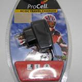 Incarcator marca Procell pentru telefoane NOKIA cu mufa subtire NOU sigilat(430)