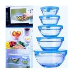 Bucatarie standard - Set de 5 caserole din sticla