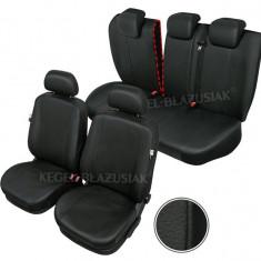 Huse scaune auto imitatie piele Peugeot 207 set huse fata + spate - Husa Auto