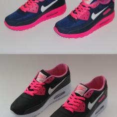 Adidasi Nike Air Max - Adidasi dama Nike, Marime: 37, 38, 39, 40, Culoare: Alb, Roz, Piele sintetica