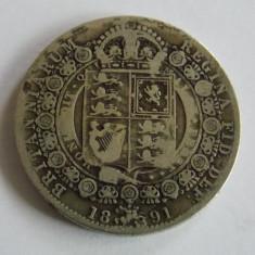 Moneda argint sixpence 1891, Europa